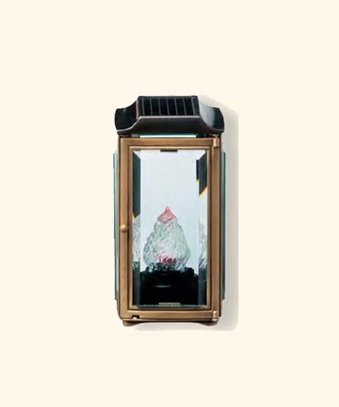 Lampada Votiva Con Pannello Solare : Gattino alluminio lampade cimiteriali solari
